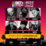 MEEK MILL, YG, A BOOGIE WIT DA HOODIE AND BLUEFACE ROUND OUT THE EPIC LINE-UP TO THE BET EXPERIENCE STAPLES CENTER CONCERTS AT L.A. LIVE PRESENTED BY COCA-COLATHE BET EXPERIENCE STAPLES CENTER TA